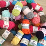 A lot of multi-coloured cotton yarn!