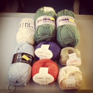yarn on train