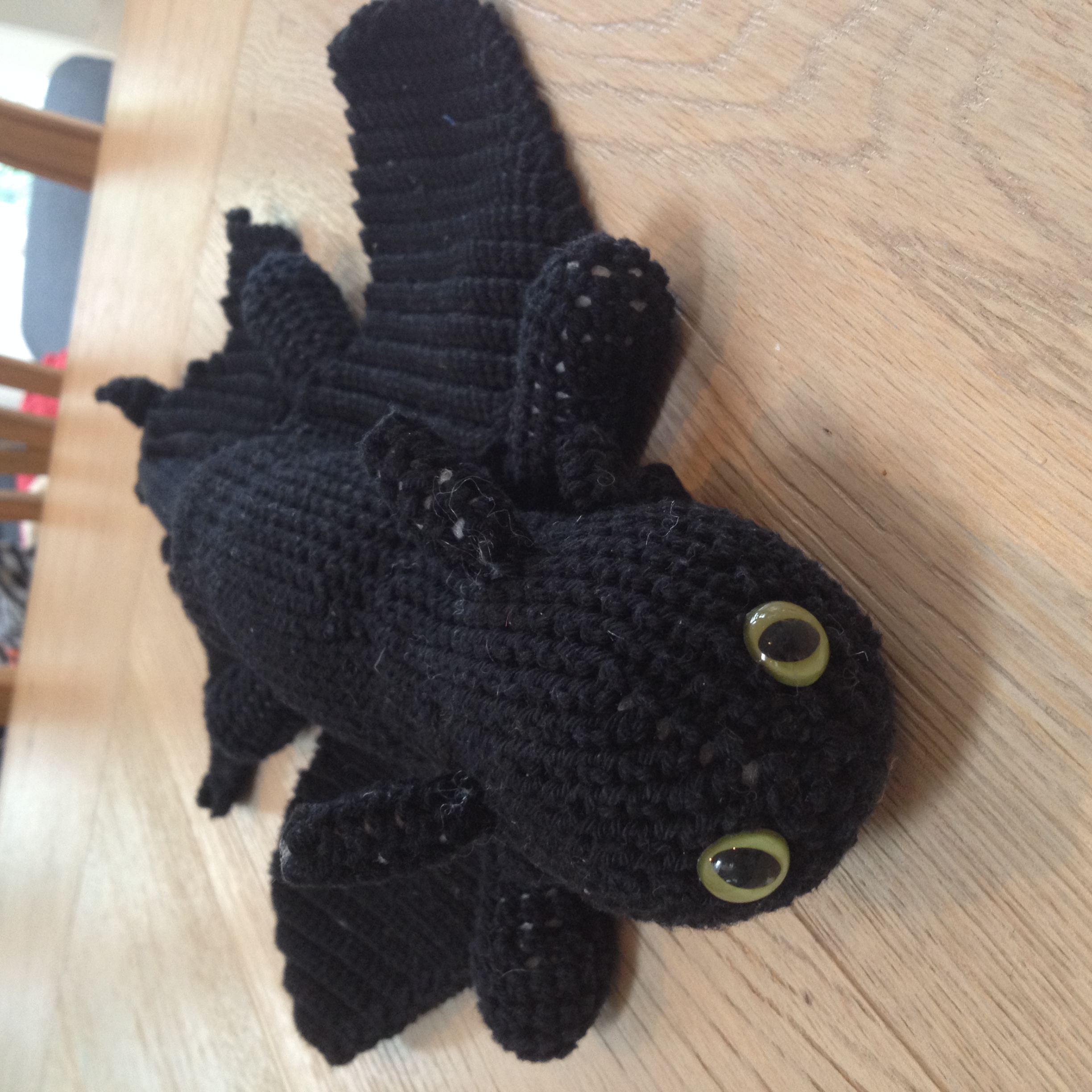 Toothless The Dragon Crochet On A Train
