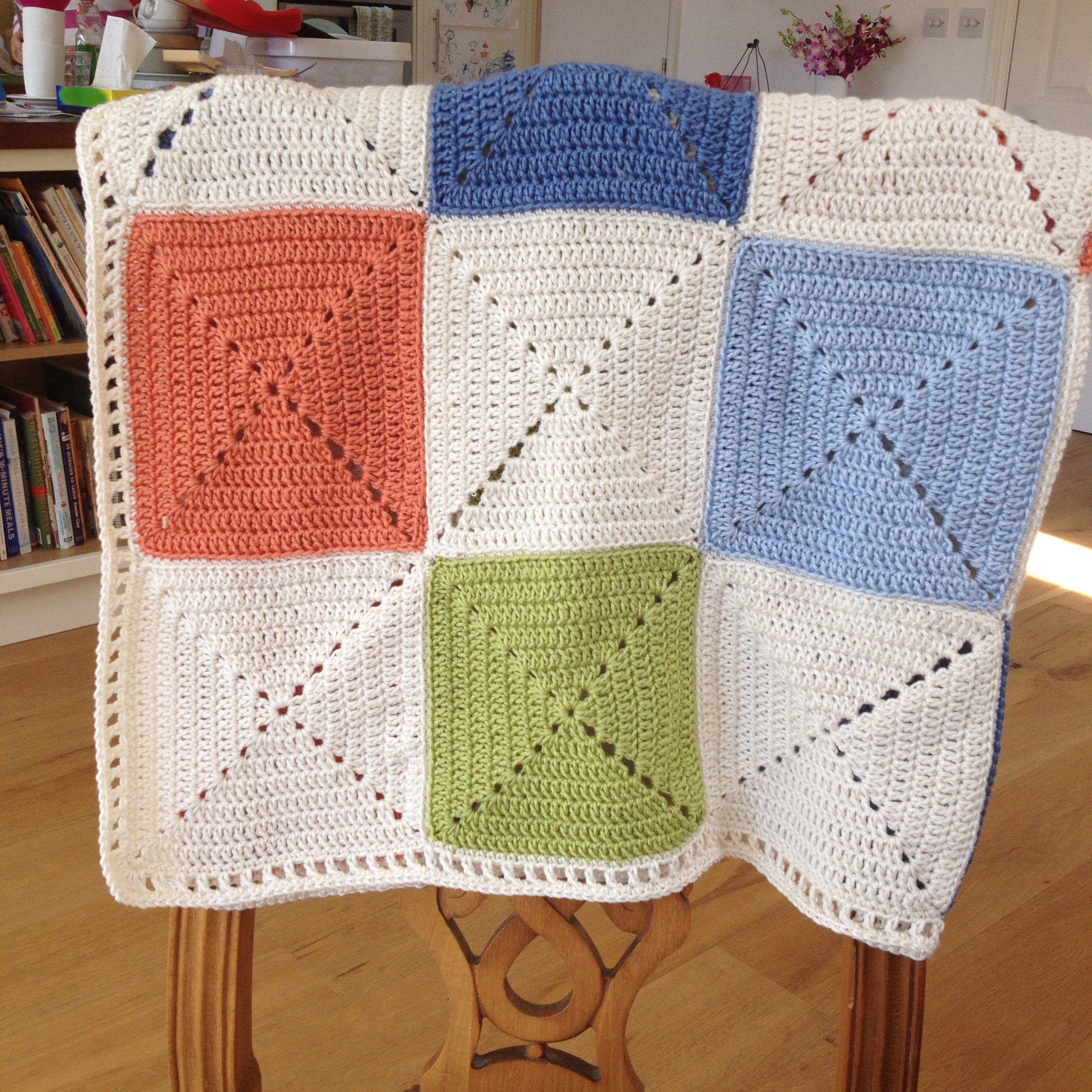 Crochet Granny Square Baby Blanket Crochet On A Train